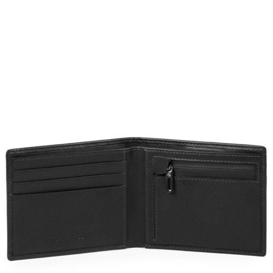 Urban Тънък мъжки портфейл с отделение за монети в черен цвят - Мъжки портфейли