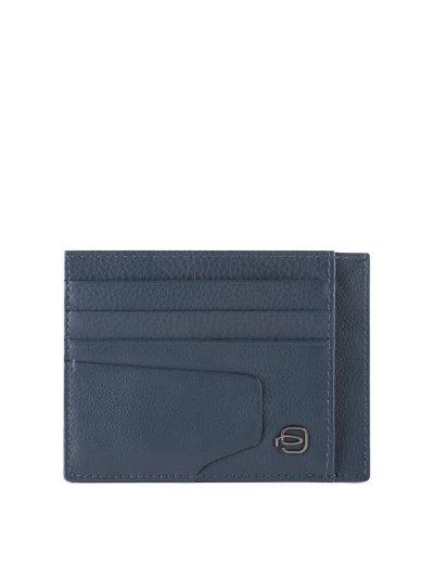 AKRON Калъф за кредитни карти в син цвят - AKRON
