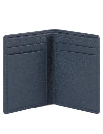 AKRON Калъф за кредитни карти с RFID защита в син цвят - AKRON