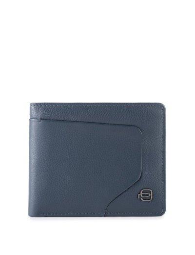 AKRON Мъжки портфейл с мобилен калъф за карти и RFID в син цвят - AKRON