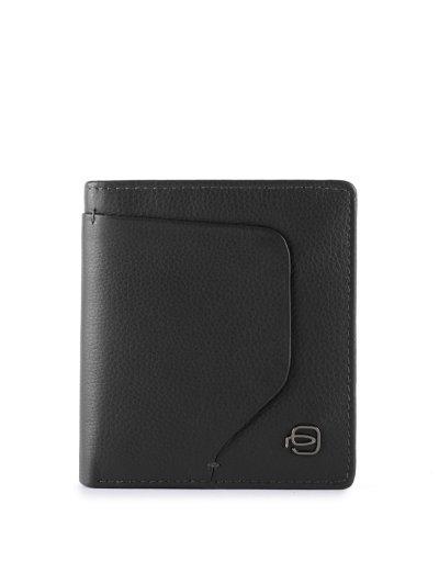 AKRON кожен портфейл за документи в черен цвят - AKRON