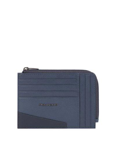 HAKONE кожен портфейл за документи, карти и монети и RFID в син цвят - Сравняване на продукти