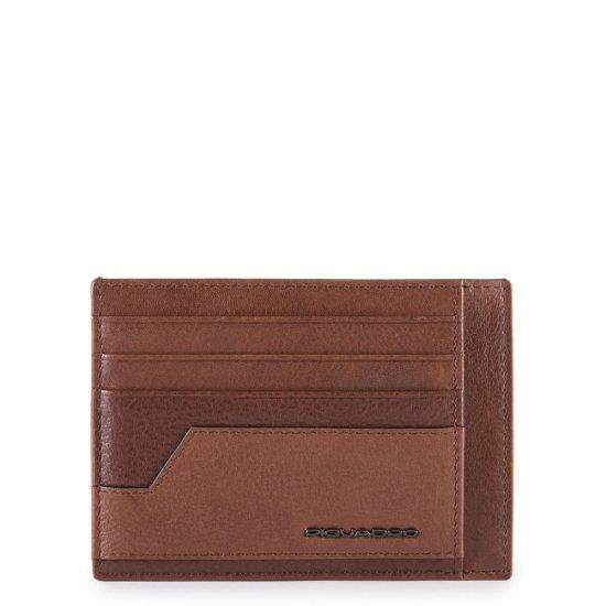 KOBE Калъф за кредитни карти в кафяв цвят - Дамски портфейли