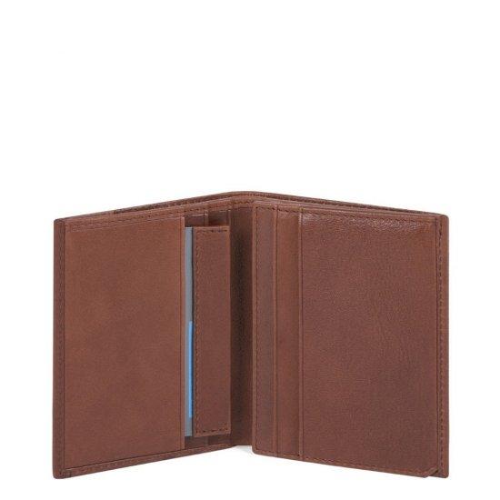 KOBE Мъжки портфейл от естествена кожа с отделения за карти и RFID защита в кафяв цвят - Мъжки портфейли