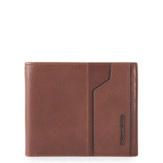 KOBE Мъжки портфейл с мобилен калъф за карти и RFID защита в кафяв цвят - Мъжки портфейли