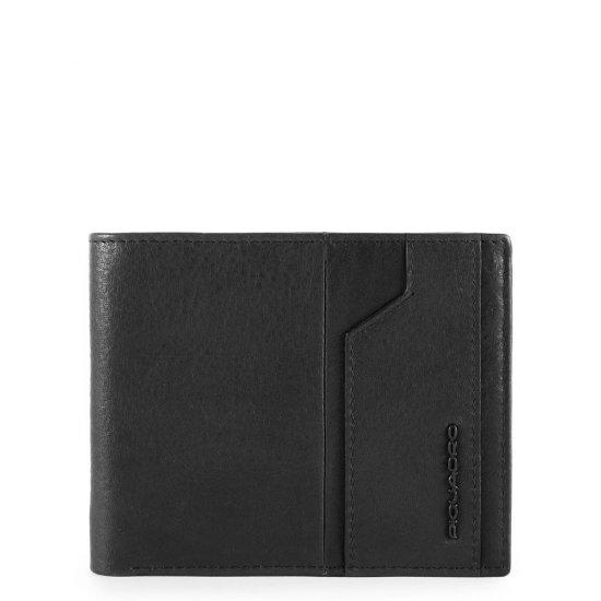 KOBE Мъжки портфейл с мобилен калъф за карти и RFID защита в черен цвят - Мъжки портфейли