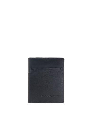 Vostok Мъжки портфейл от естествена кожа с отделения за карти и RFID защита в черен цвят - Мъжки портфейли