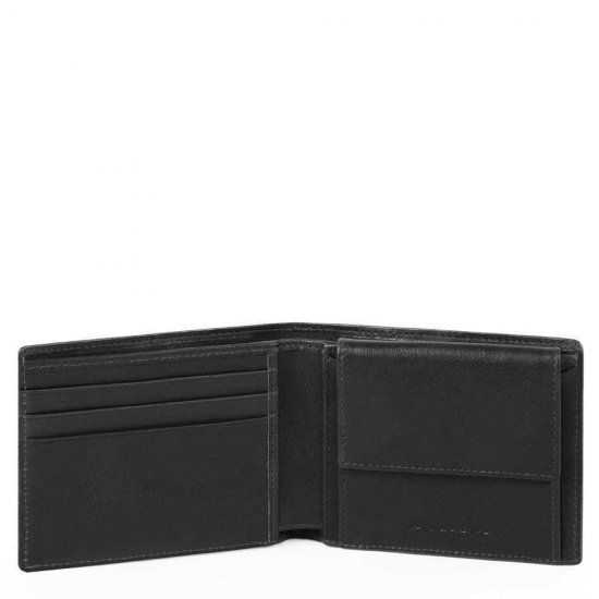 Vostok Мъжки портфейл с отделение за монети и карти и RFID в черен цвят - Мъжки портфейли