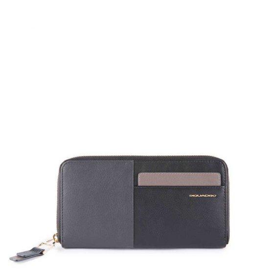 Дамски портфейл от естествена кожа с отделение за монети и карти черен цвят - Дамски портфейли
