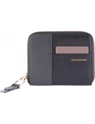 Дамски портфейл от естествена кожа с отделение за монети и карти черен - Дамски портфейли