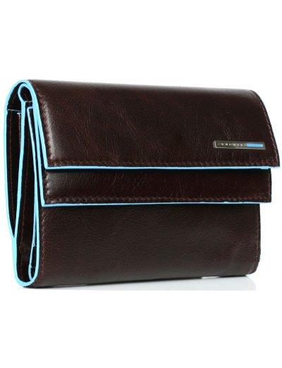 Blue Square Луксозен дамски портфейл с двойно прихлупване - Дамски портфейли