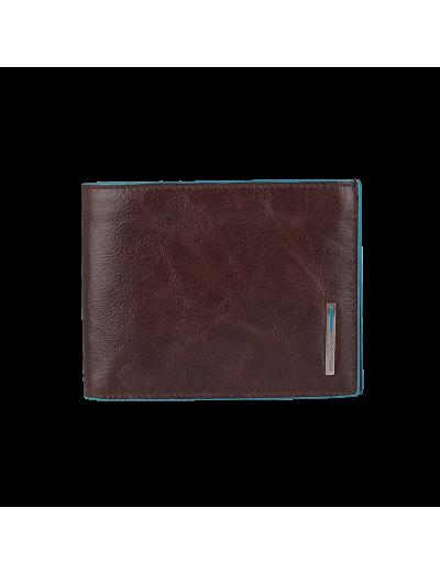 Blue Square Луксозен, хоризонтален мъжки портфейл от естествена кожа в цвят махагон - Сравняване на продукти