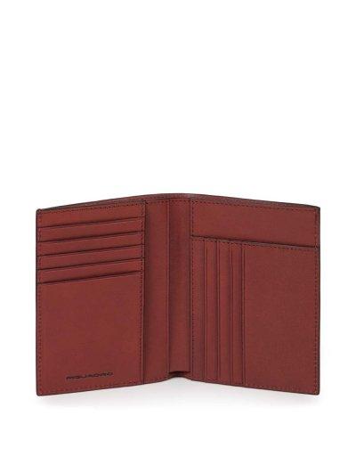 Black Square Вертикален, мъжки портфейл от естествена кожа и RFID в червен цвят - Сравняване на продукти