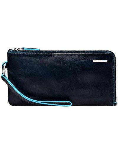 Хоризонтална чантичка за ръка син цвят - Аксесоари