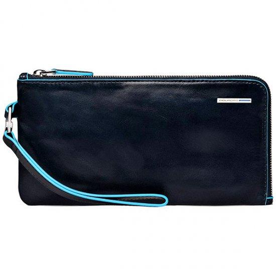 Хоризонтална чантичка за ръка син цвят - Мъжки портфейли