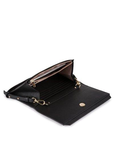 Circle Дамски портфейл тип клъч от естествена кожа с отделение за карти -