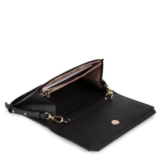 Circle Дамски портфейл тип клъч от естествена кожа с отделение за карти - Дамски портфейли