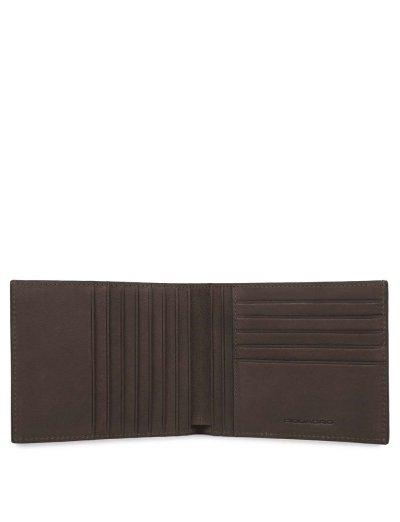 Black Square Мъжки портфейл от естествена кожа с отделения за карти и RFID в тъмно кафяв цвят - Black Square