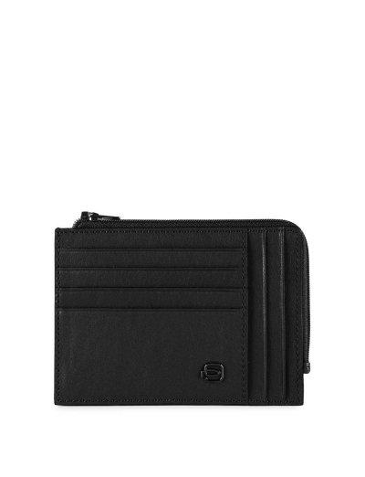 Black Square кожен портфейл за документи, карти и монети в черен цвят - Сравняване на продукти