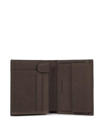 Black Square Вертикален мъжки портфейл от естествена кожа с отделение за карти и монети и RFID в тъмно кафяв цвят - Сравняване на продукти