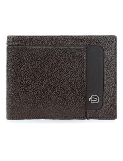 Erse Мъжки портфейл от естествена кожа с отделения за карти и RFID в тъмно кафяв цвят - Аксесоари