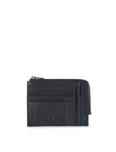 Brief кожен портфейл за документи, карти и монети и RFID в син цвят - Дамски портфейли