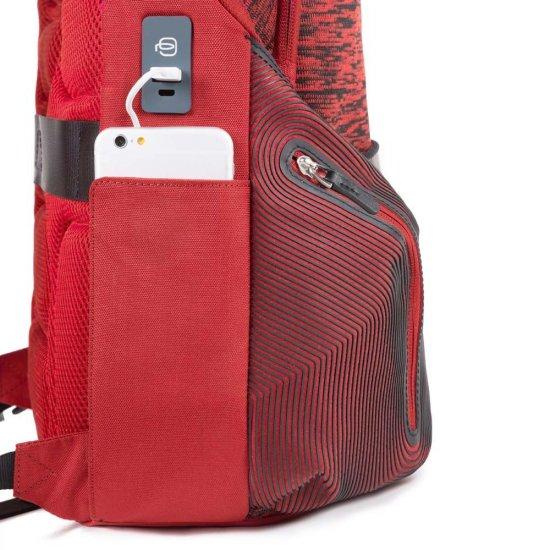 Coleos Раница за лаптоп с отделение за iPad®Air/Pro 9,7 и извод за USB и micro-USB червен цвят - Бизнес раници