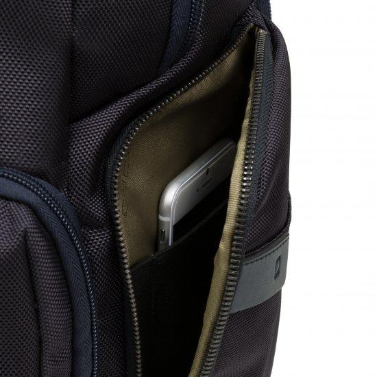 BagMotic Раница за 15,6 инча лаптоп с кодова ключалка в тъмно син цвят - Бизнес раници