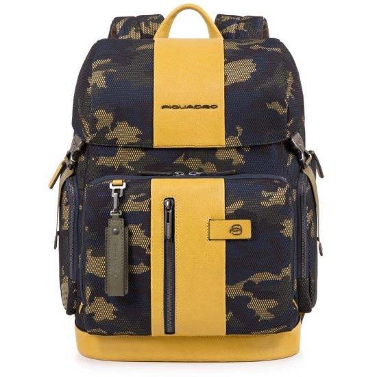 "Brief Раница с отделение за 15.6"" лаптоп жълто камуфлаж - Бизнес раници"
