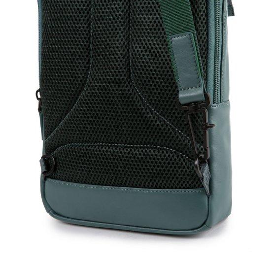 """Kyoto Раница с една презрамка и отделение за iPad AIR - iPad Pro 9,7/iPad 11"""" в зелен цвят - Бизнес раници"""