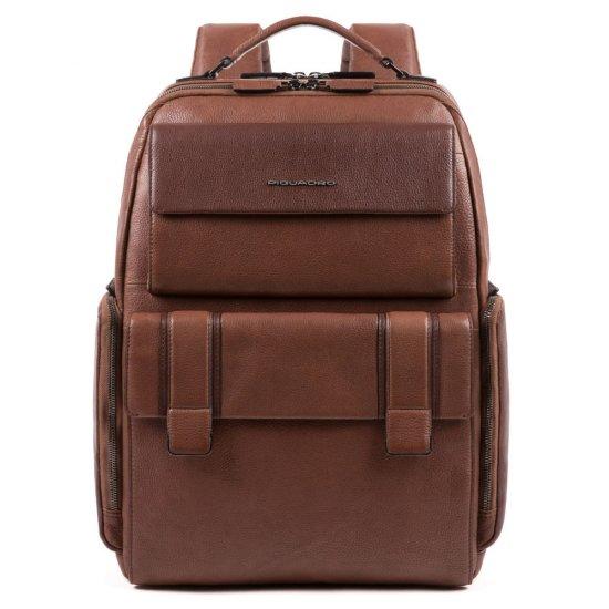 KOBE Раница за 15,6 инча лаптоп подходяща за ръчен багаж на борда на самолет в тъмно кафяв цвят - Бизнес раници