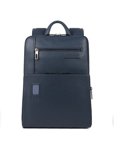 AKRON Раница за 14 инча лаптоп с възможност за разширение в син цвят - AKRON