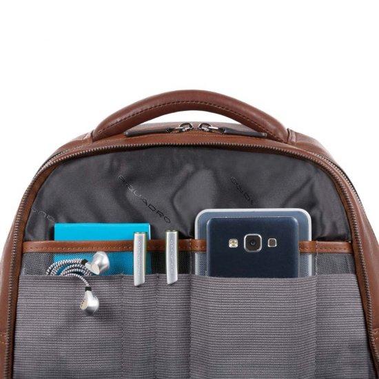 BagMotic Раница за лаптоп с отделение за iPad®Air/Pro 9,7 и извод за USB и micro-USB и CONNEQU тъмно кафяв цвят - Бизнес раници