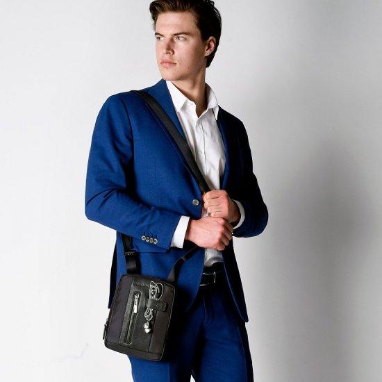 Brief Вертикална чантичка за рамо с отделение за iPad MINI_ MINI 2_ iPad MINI 3 черен цвят - Чанти за рамо и кръст