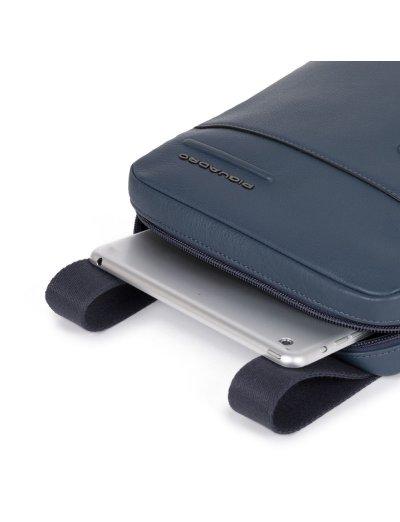 """AKRON Вертикална чантичка за рамо с отделение за iPad AIR - iPad Pro 9,7/iPad 11"""" в тъмно син цвят - Чанти за рамо и кръст"""