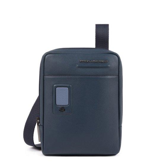 AKRON Компактна вертикална чантичка за рамо с отделение за iPad mini/iPad mini3 в син цвят - Чанти за рамо и кръст