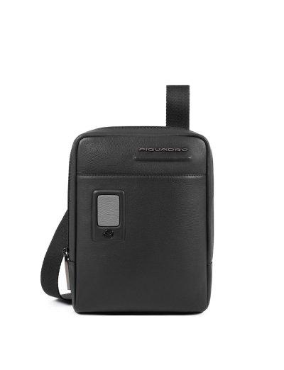 AKRON Компактна вертикална чантичка за рамо с отделение за iPad mini/iPad mini3 в черен цвят -