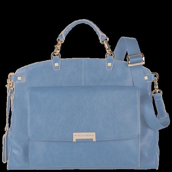 Елегантна дамска чанта в светло син цвят - Дамски бизнес чанти