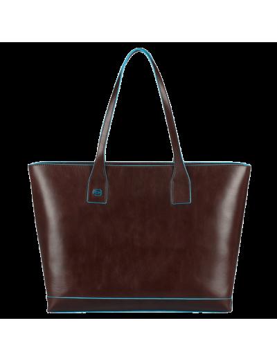 Хоризонтална дамска чанта с отделение за iPad mini в цвят махагон - Дамски бизнес чанти