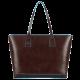 Хоризонтална дамска чанта с отделение за iPad mini в цвят махагон - Мъжки портфейли