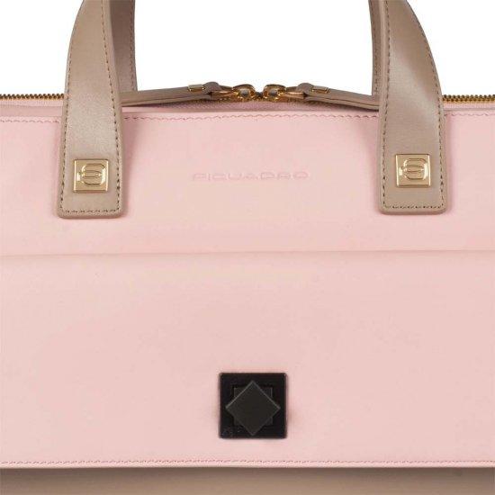 Хоризонтална дамска чанта за през рамо в цвят ягода - Дамски бизнес чанти