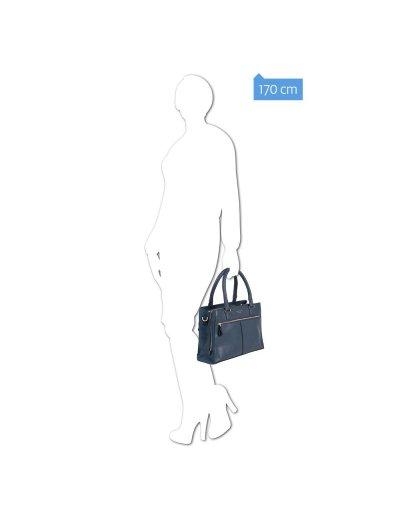 Дамска чанта с отделение за iPad®/iPad®Air/Air2 в син цвят - Archimede