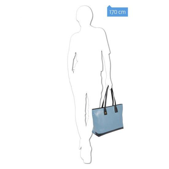 Хоризонтална дамска чанта с отделение за iPad®Air/Air 2 в лилав цвят - Дамски бизнес чанти