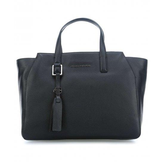 Дамска чанта с отделение за iPad®Air/Pro 9,7 в черен цвят - Дамски бизнес чанти