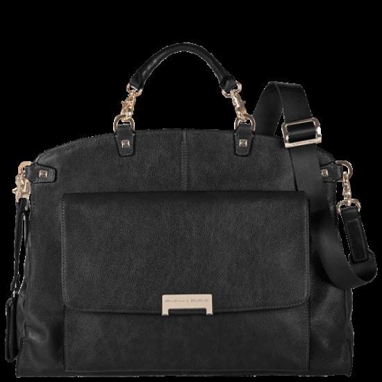 Елегантна дамска чанта в черен цвят - Дамски бизнес чанти