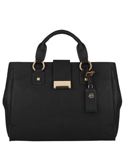 Елегантна дамска чанта с една преграда в черен цвят - Сравняване на продукти